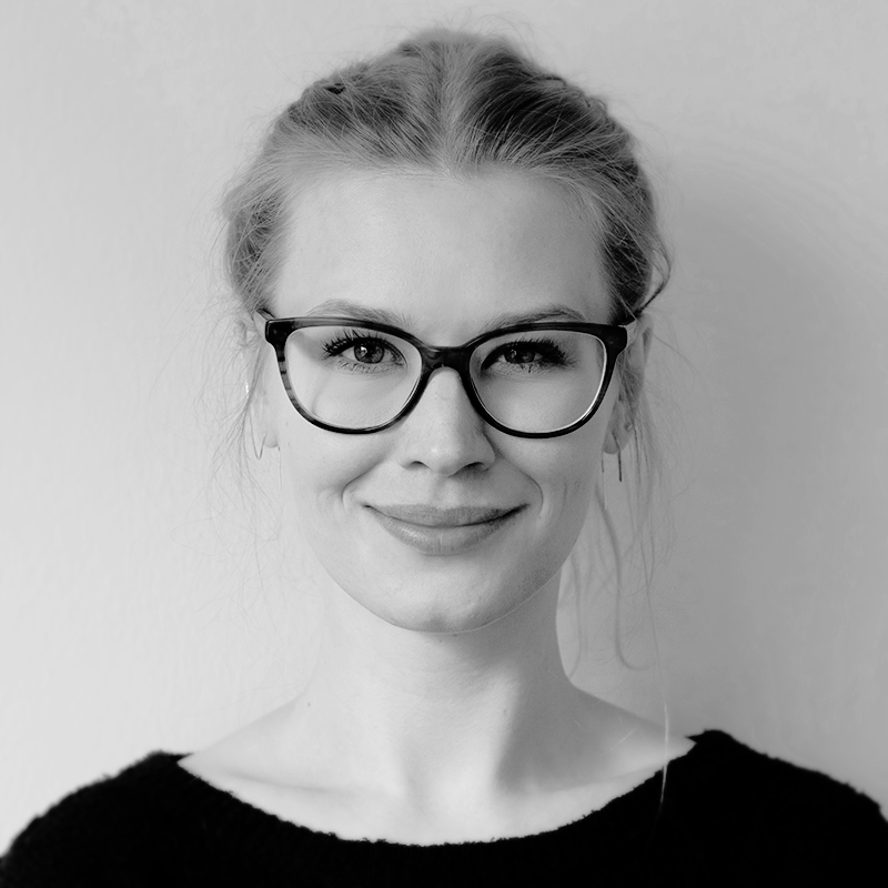 black-and-white profile picture of Gwenlyn Tiedemann
