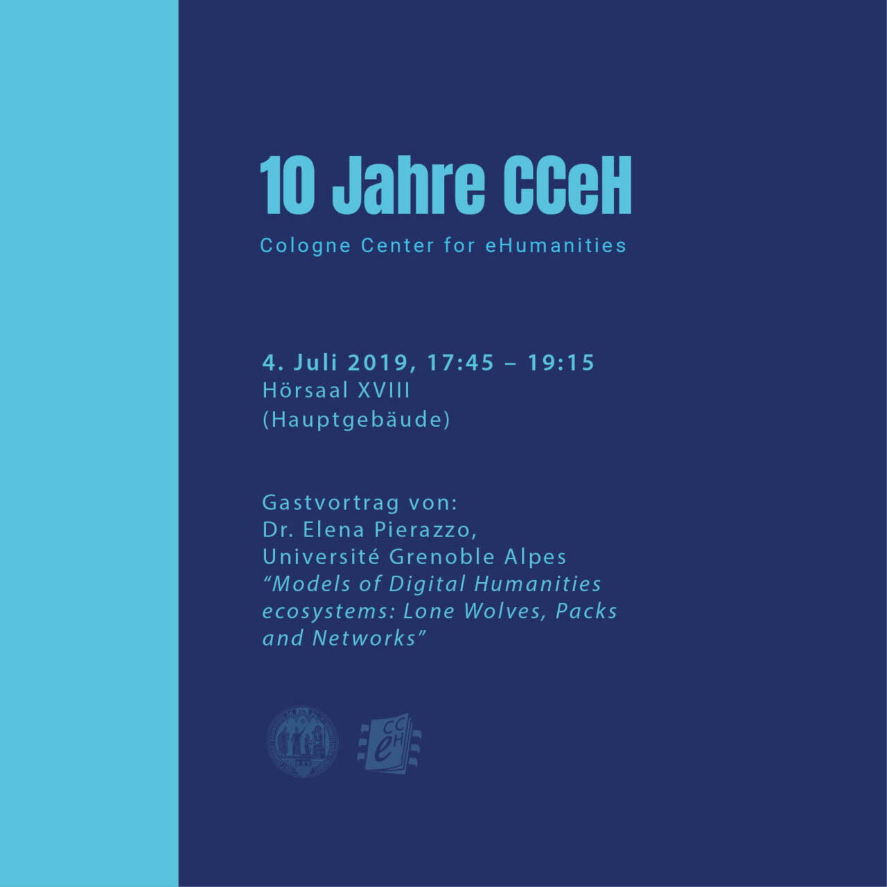 poster advertising the 10 year anniversary of the CCeH