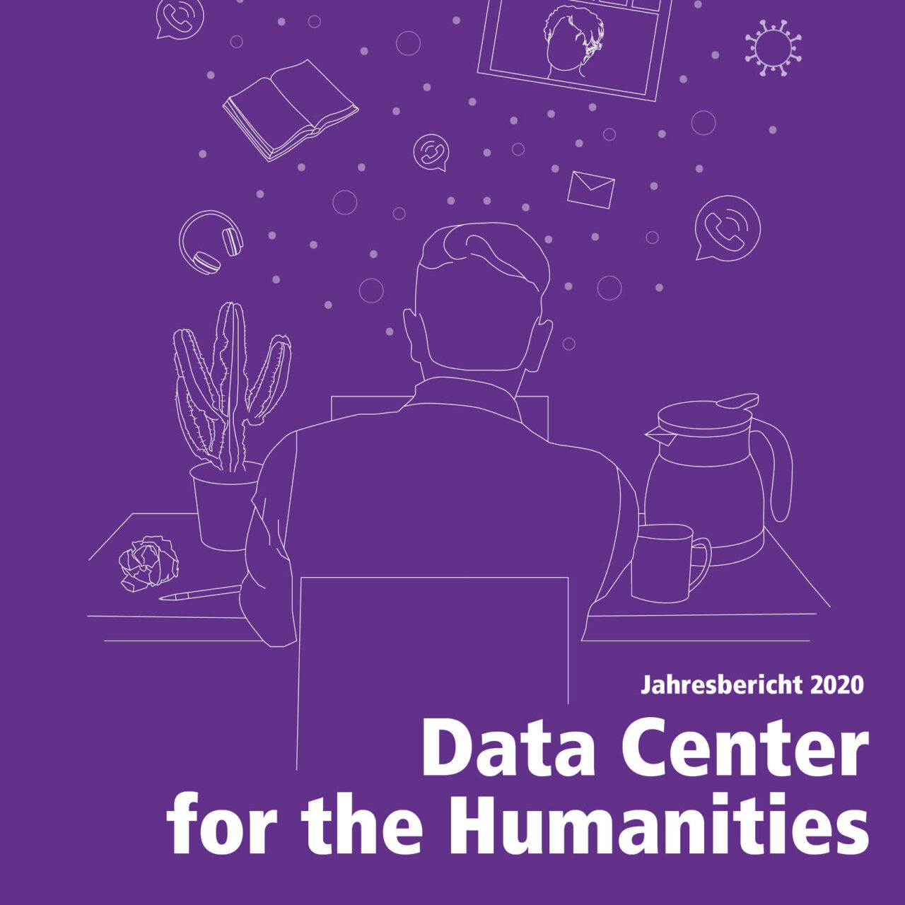 purple design of the annual report of the DCH
