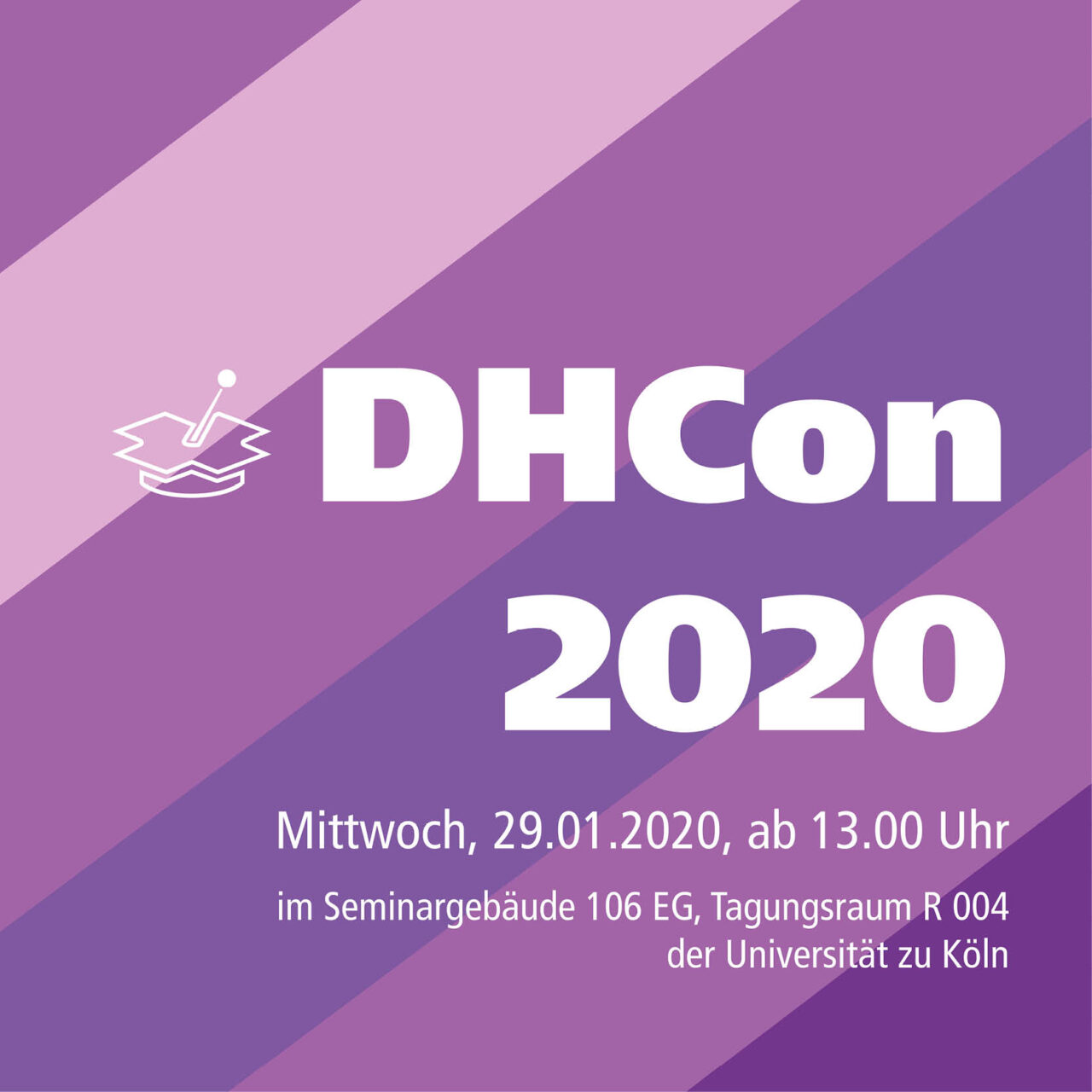 poster advertising the DHCon 2020