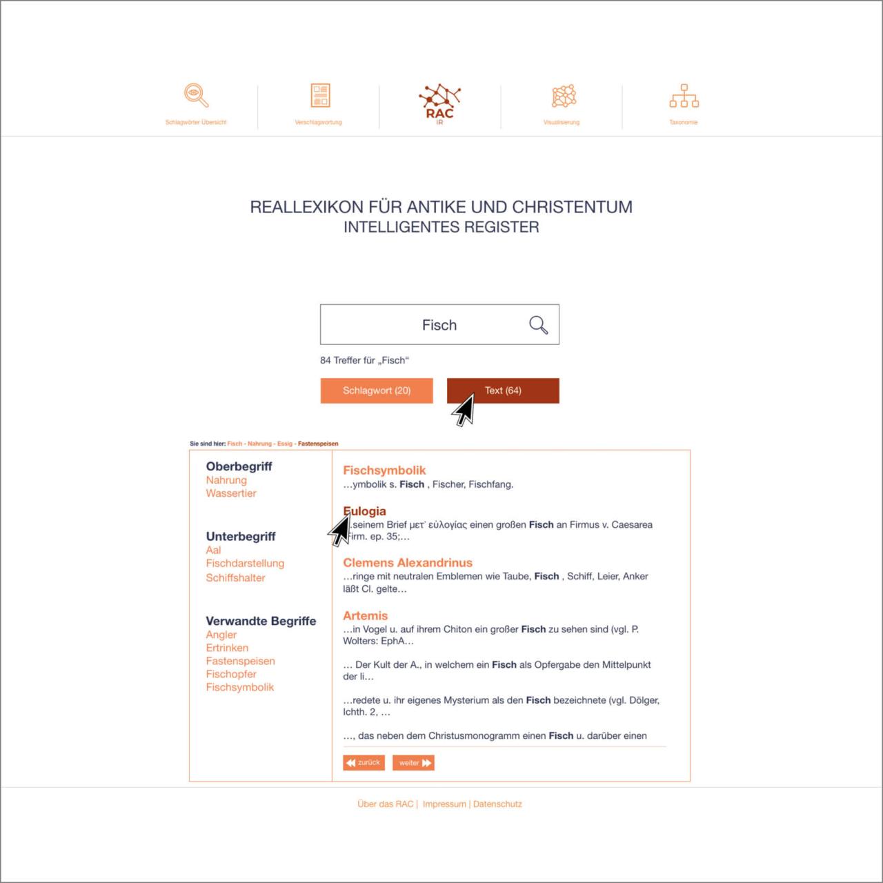 design draft of the RAC website