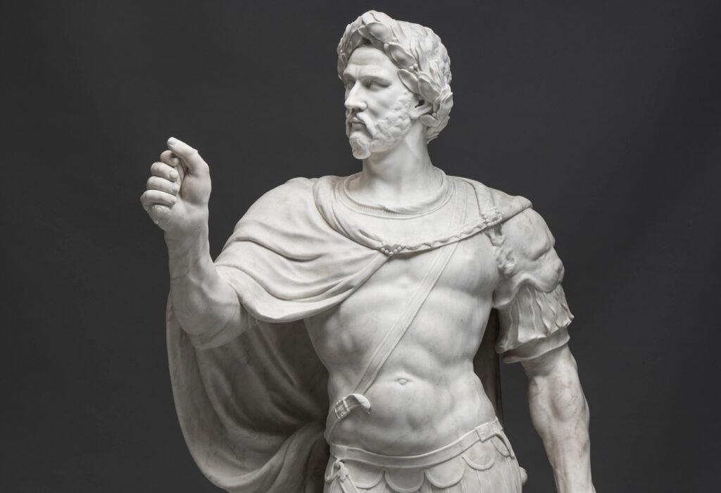 sculpture of the roman emperor constatine the great from the collection of the stiftung preußische schlösser und gärten berlin-brandenburg