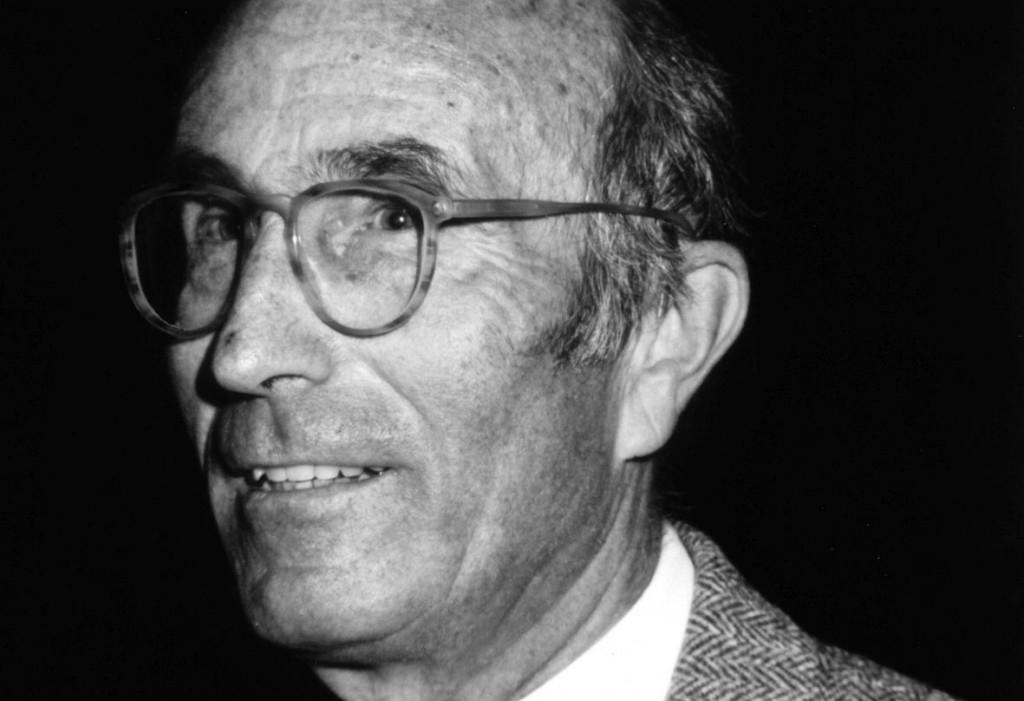 black-and-white photograph of sociologist Niklas Luhmann