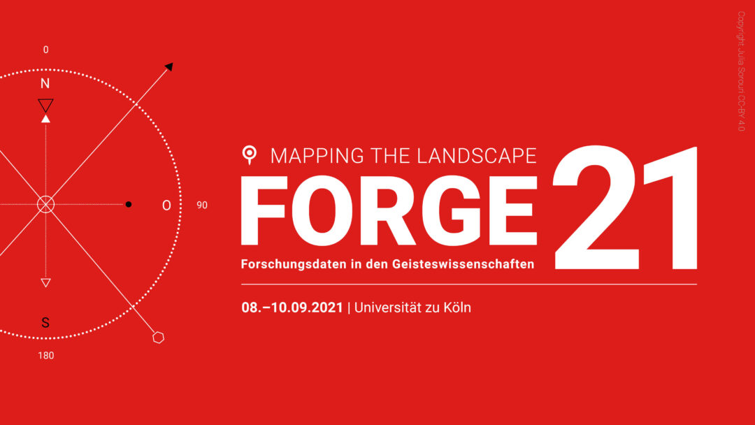 red image with white script advertising the FORGE 2021 conference